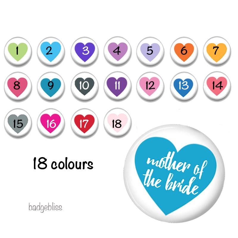 Hen party  badges 18 colours - badge-bliss