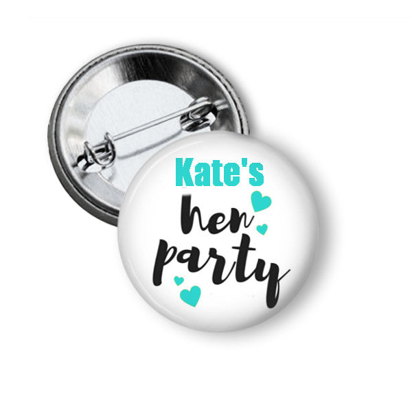 Hen party badges - badge-bliss
