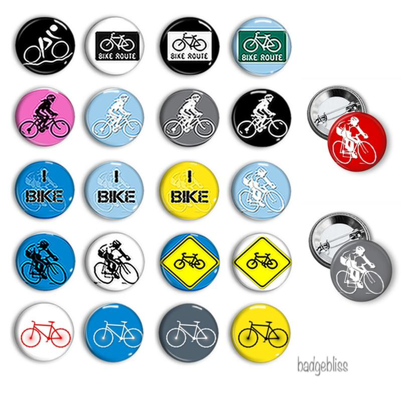 I Bike button badges