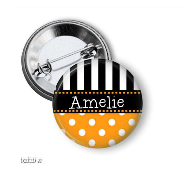 Polka Dot Stripe  badge, magnet - badge-bliss