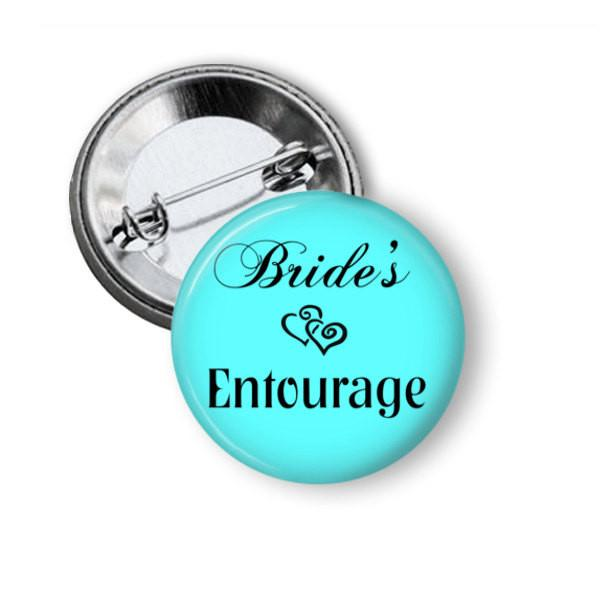 Brides entourage button badges - badge-bliss