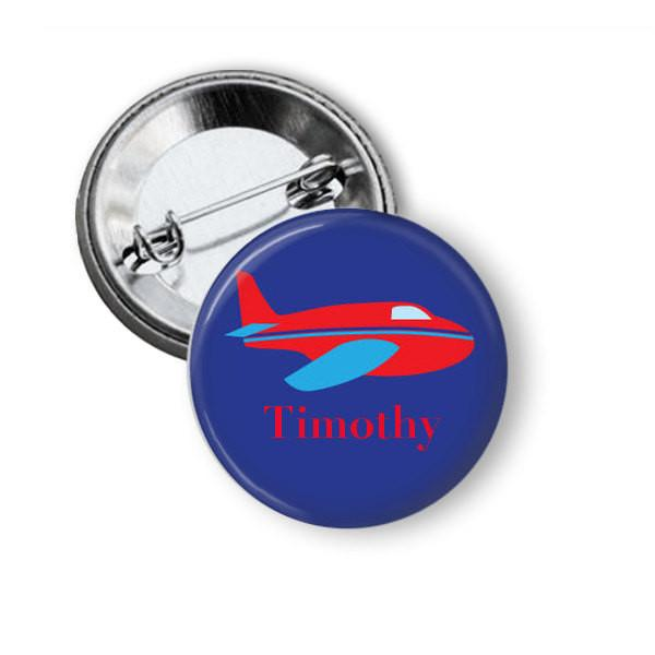 Plane badge, fridge magnet - badge-bliss