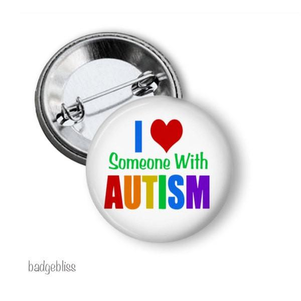 Autism awareness badge or magnet - badge-bliss