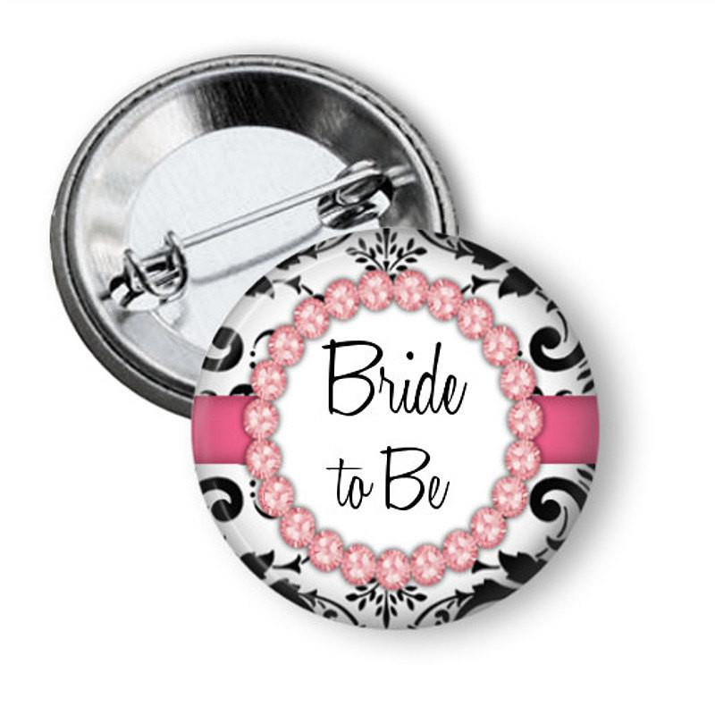 Hen party, bridal shower  button badge Diamonds