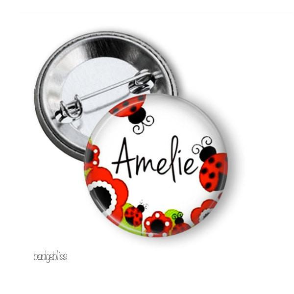 Ladybird name badge - badge-bliss