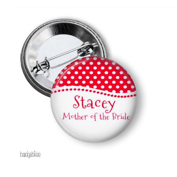 Polka Dot button badge - badge-bliss