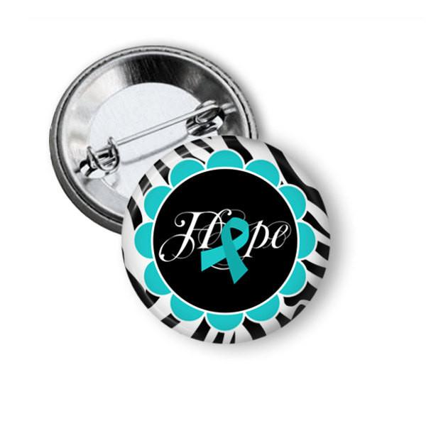 Ovarian cancer awareness button badge