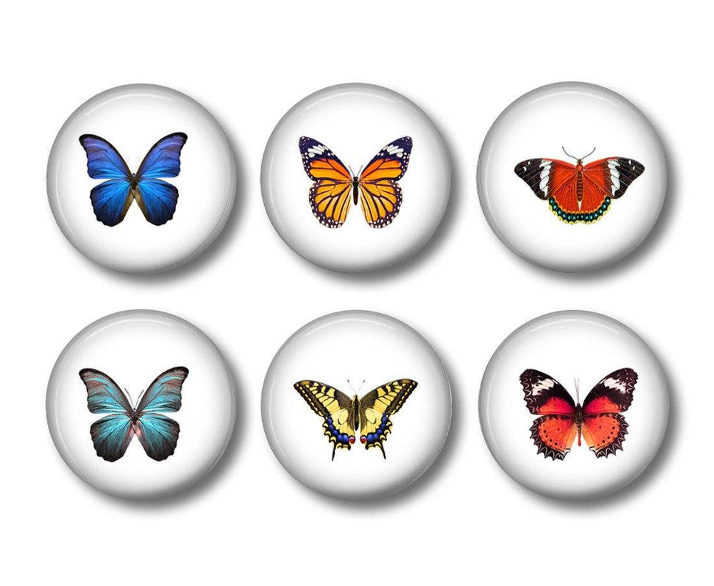 Button badges Butterfly - badge-bliss