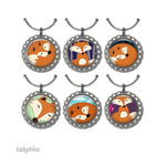 Wine glass charms choose your images. - Badge Bliss