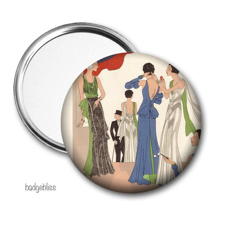 Pocket mirror Flapper Fashion - badge-bliss