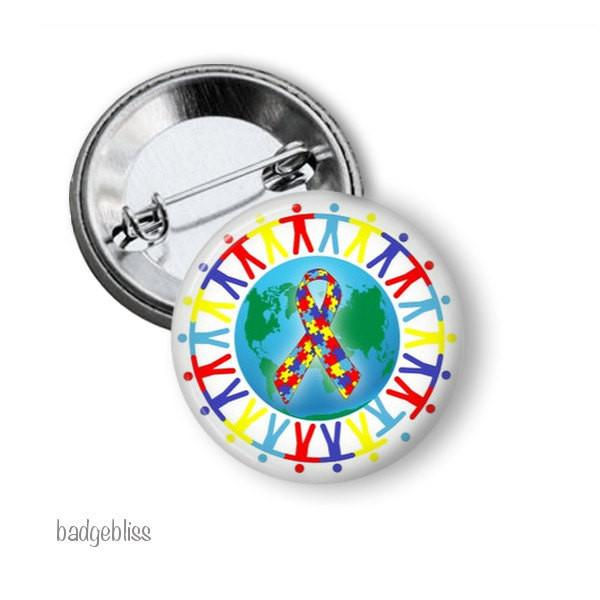 Autism badge or magnet - badge-bliss