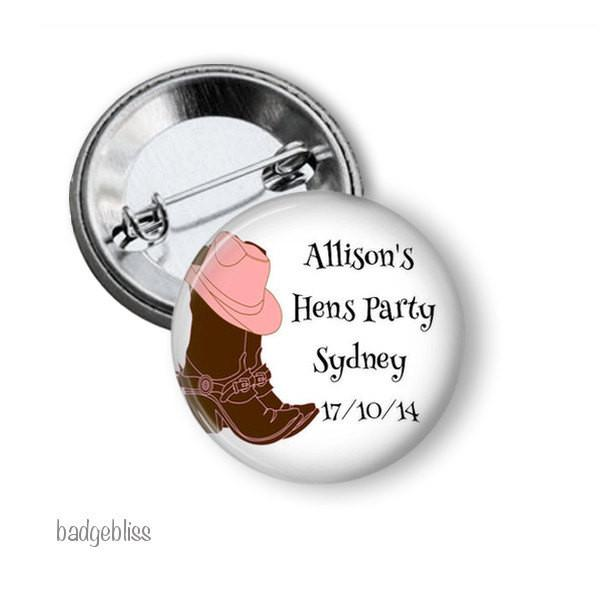 Cowgirl hen party button badge - Badge Bliss