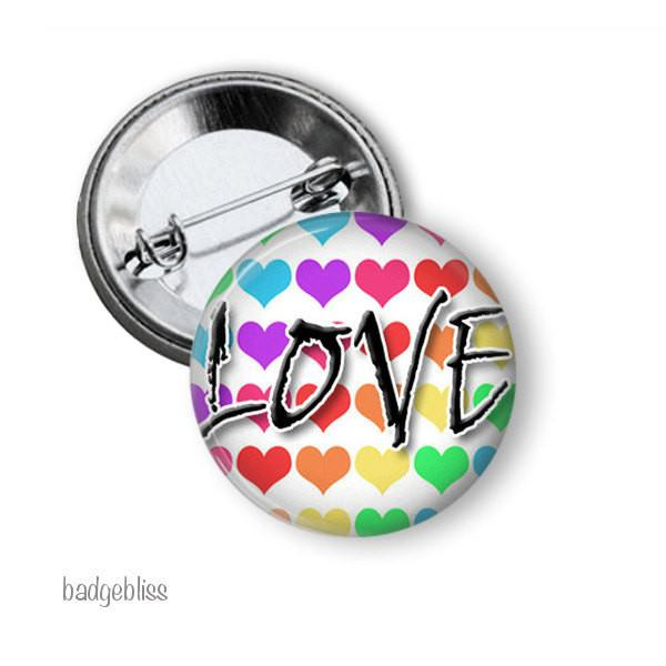 Rainbow Badge Love