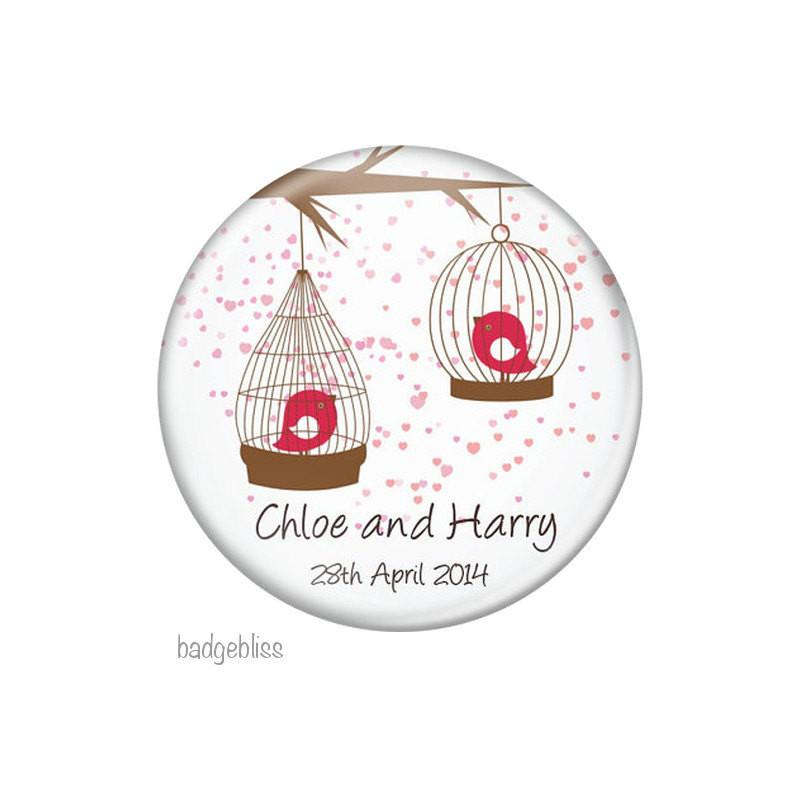 Wedding favor magnet Birdcage - Badge Bliss