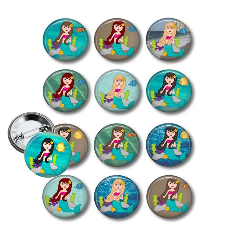Button badge Mermaid