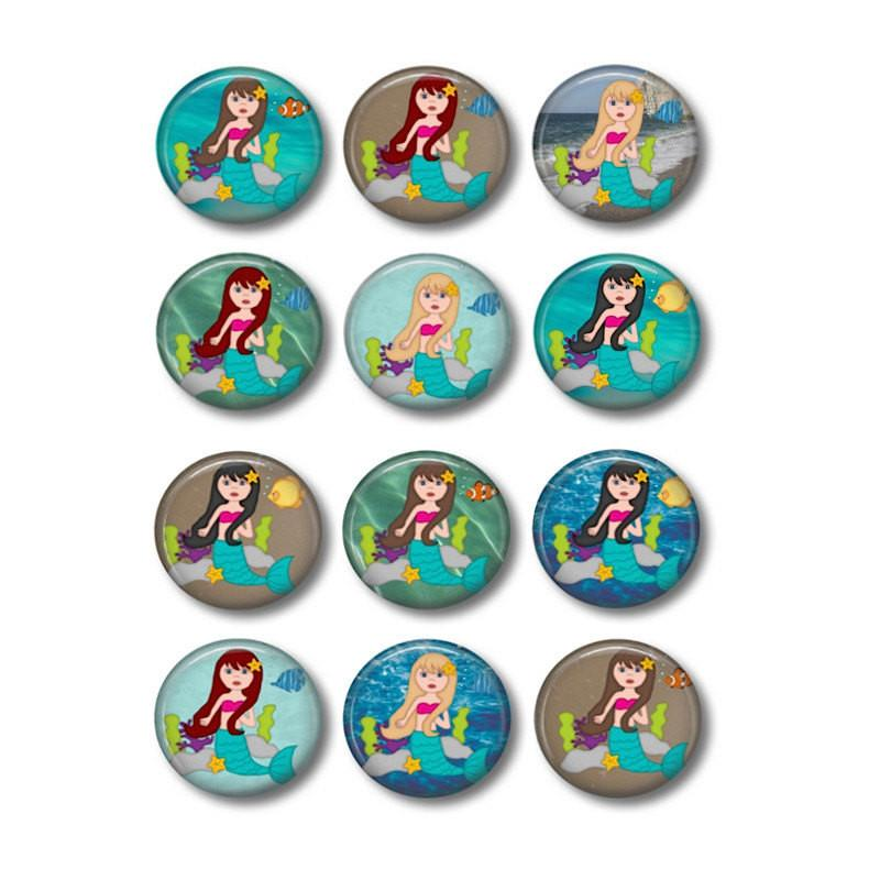 Button badge Mermaid - badge-bliss