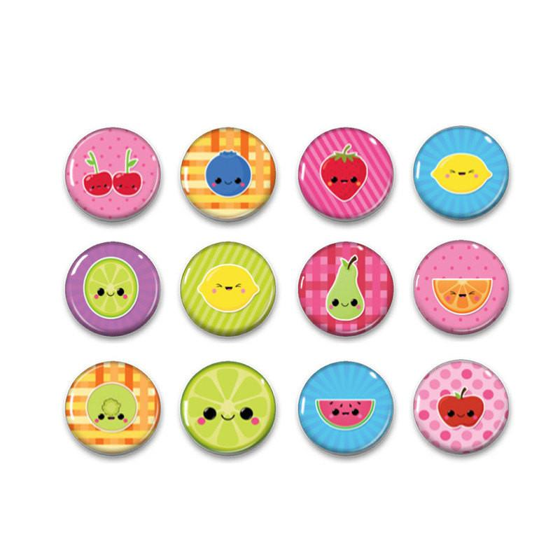 Button badges fruit - badge-bliss