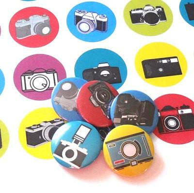 Button badges Camera
