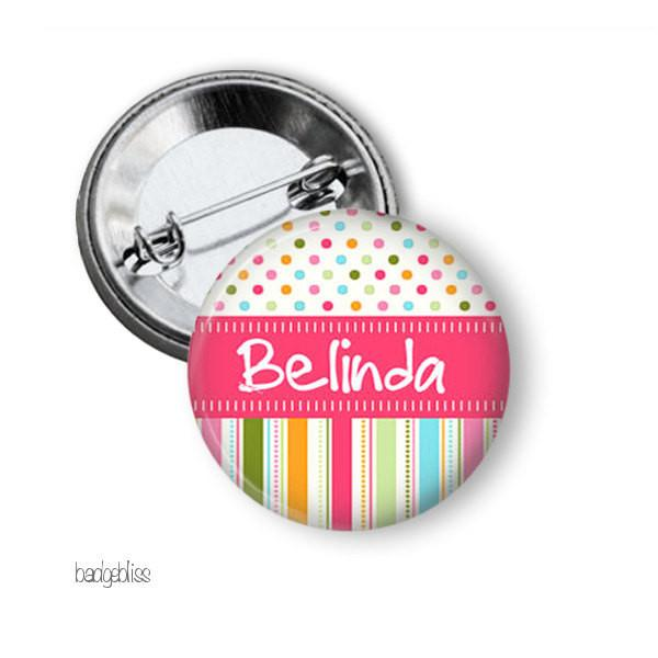 Candy stripe badge or magnet