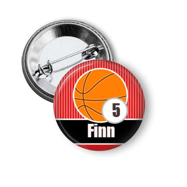 Basketball badge or fridge magnet