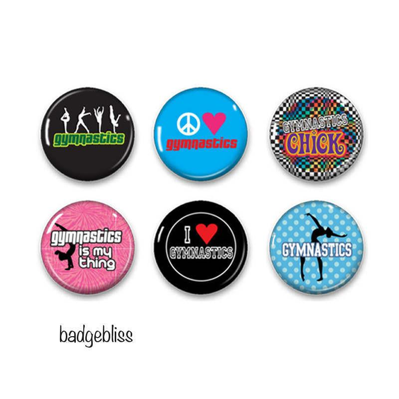 Gymnastic badges or fridge magnets - badge-bliss