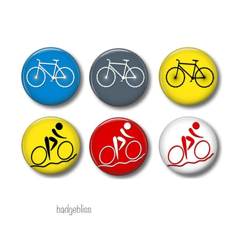 Bicycle badges or fridge magnets - badge-bliss