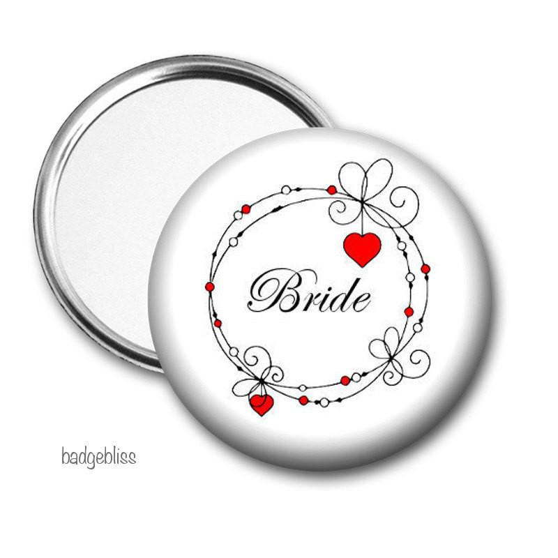 Bride Pocket mirror - badge-bliss
