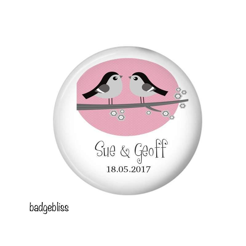 Wedding favour fridge magnet - badge-bliss