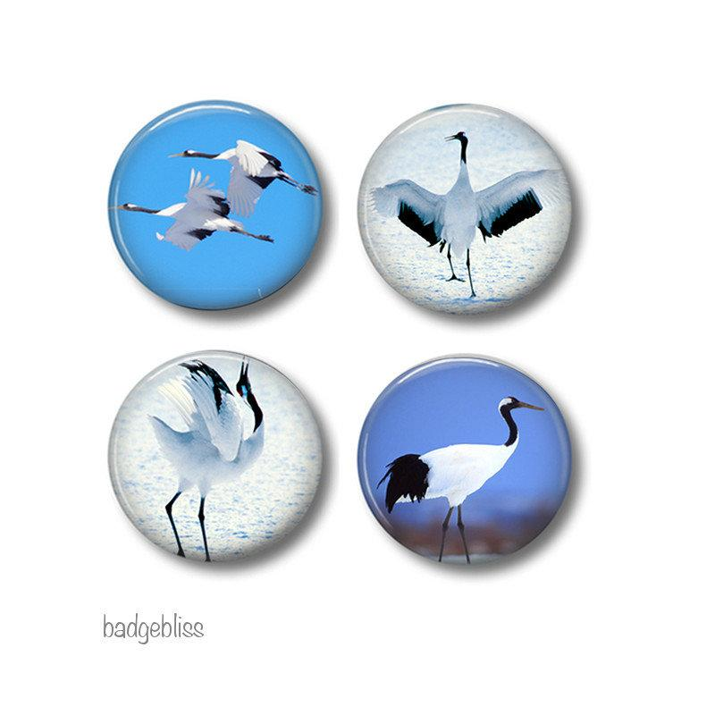 Bird fridge magnets - badge-bliss