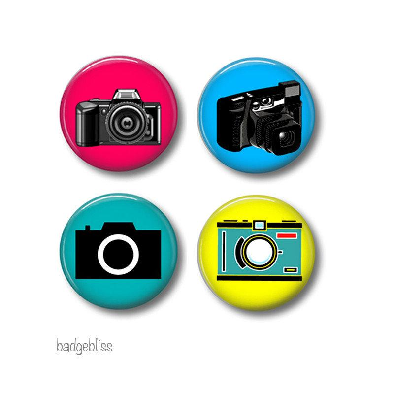 Camera fridge magnets
