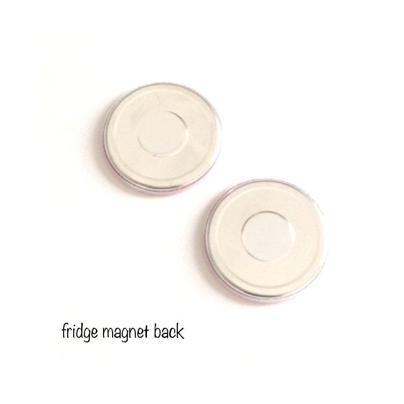 Sewing thread spool fridge magnets - badge-bliss