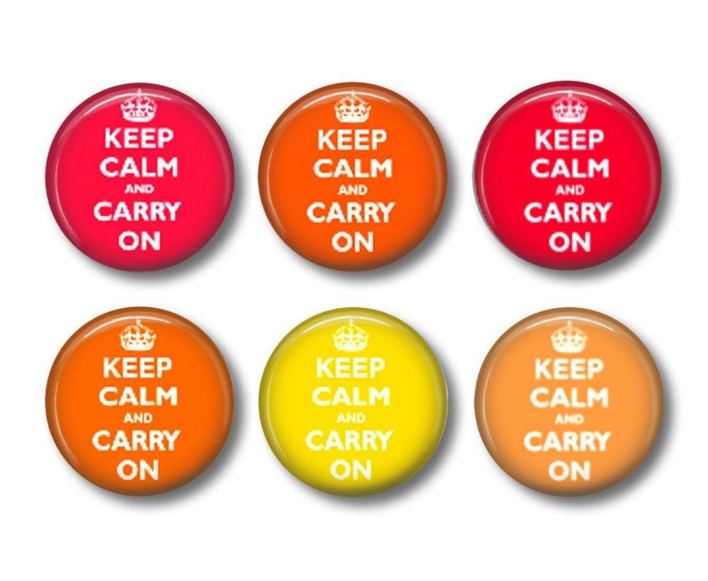 Keep Calm badges or fridge magnets - badge-bliss