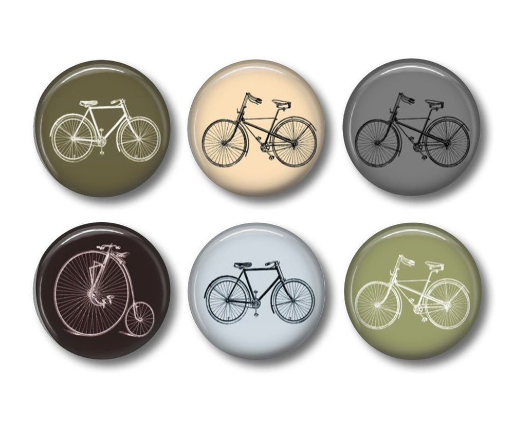 Vintage Bicycle fridge magnets