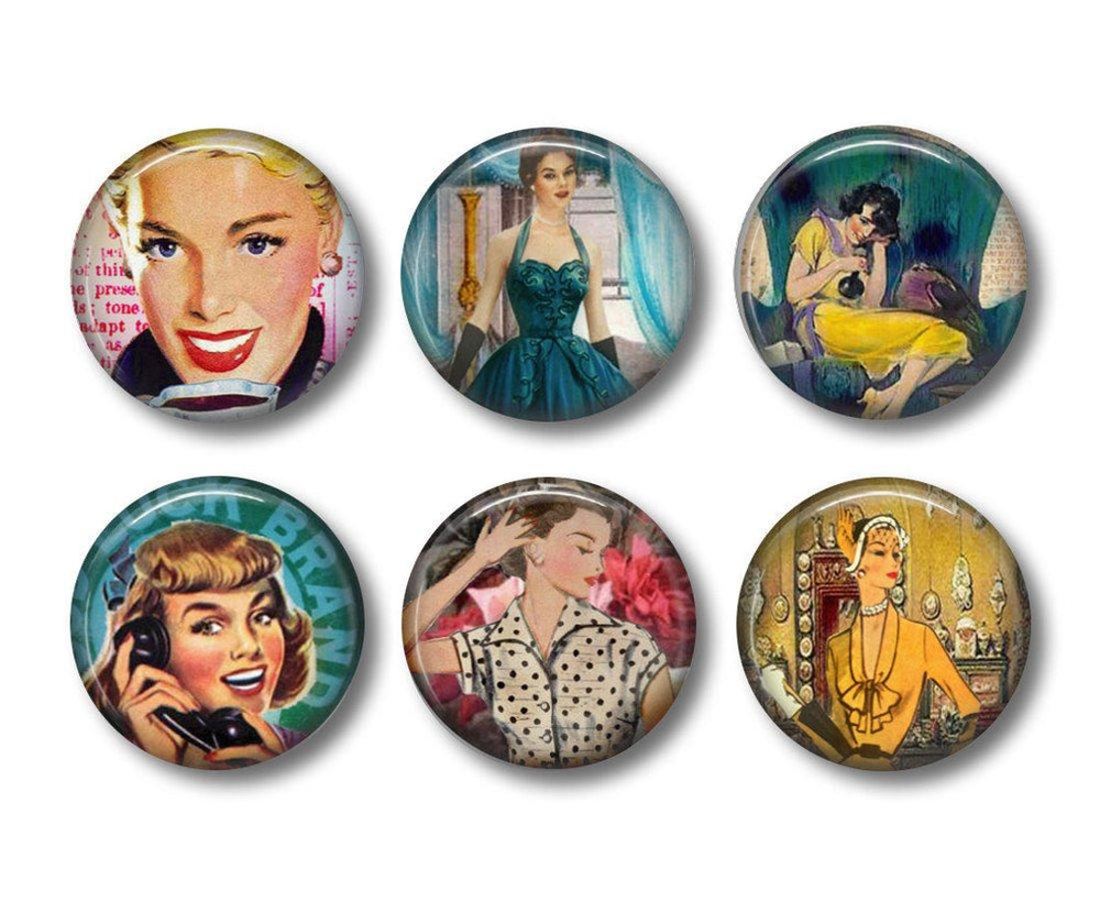 Retro Women   fridge magnets