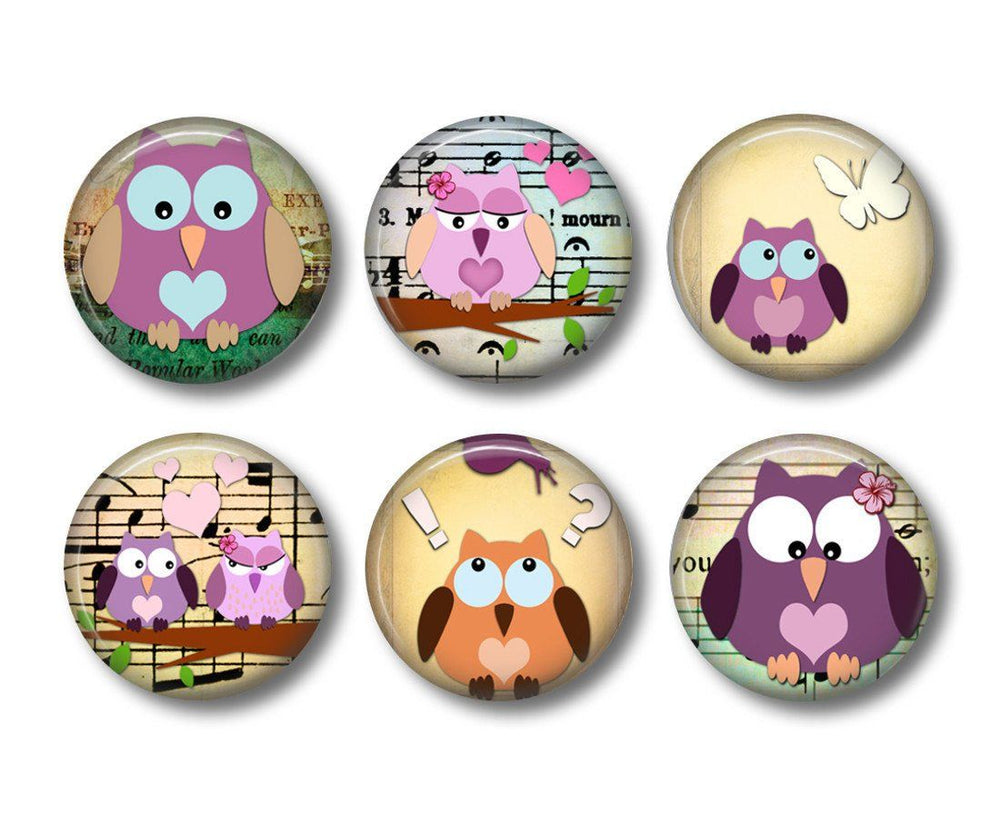 Owl   fridge magnets