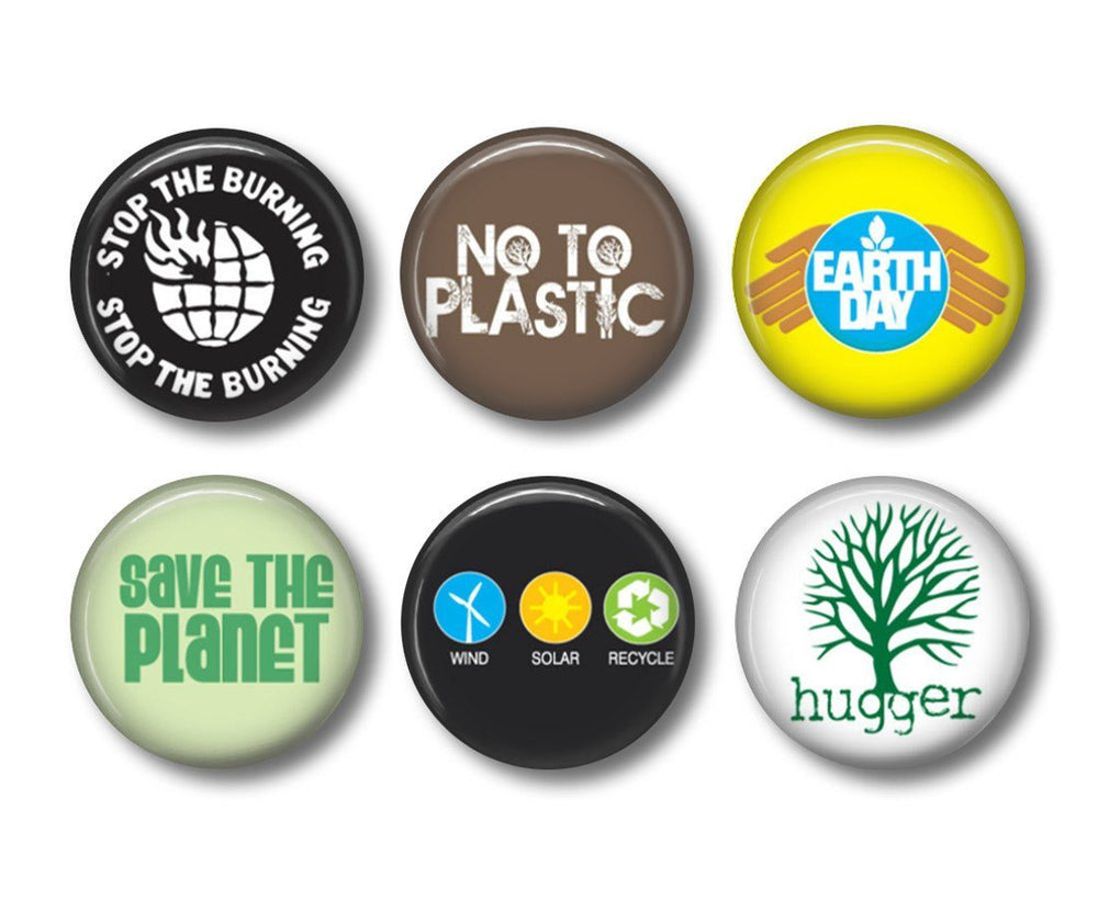 Recycle 3 button badges or fridge magnets - Badge Bliss