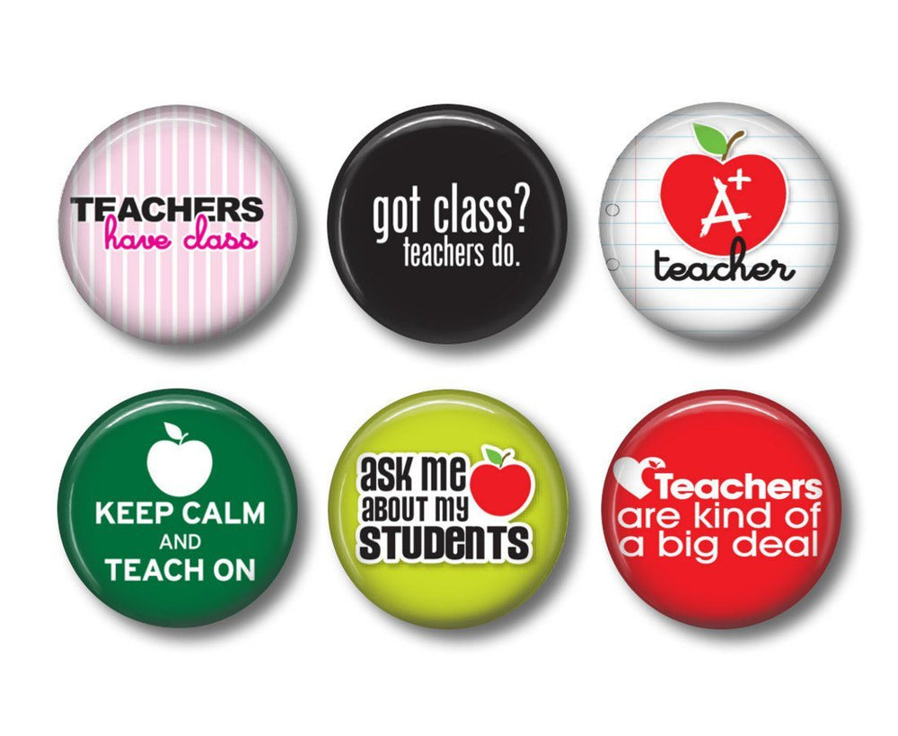 Teacher badges or fridge magnets