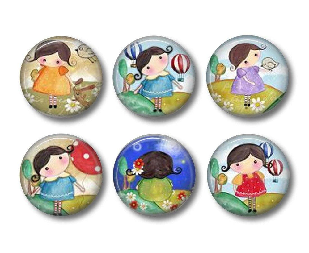 Matilda badges or fridge magnets - badge-bliss