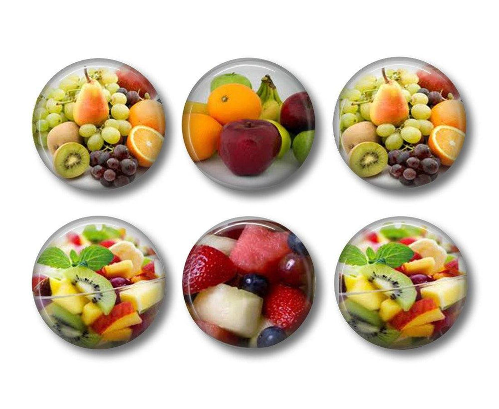 Fruit Salad badges or fridge magnets