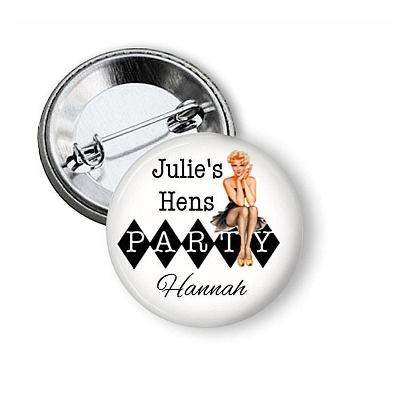 Hen party button button badge Party - Badge Bliss
