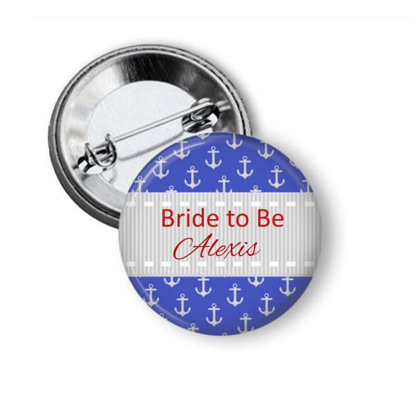 Hen party button badge, Nautical - Badge Bliss