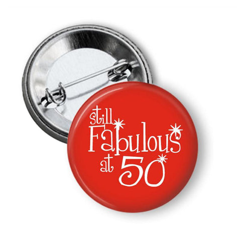 Badge 50 birthday badge