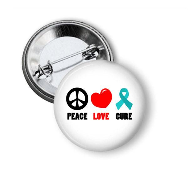 Ovarian cancer button badge