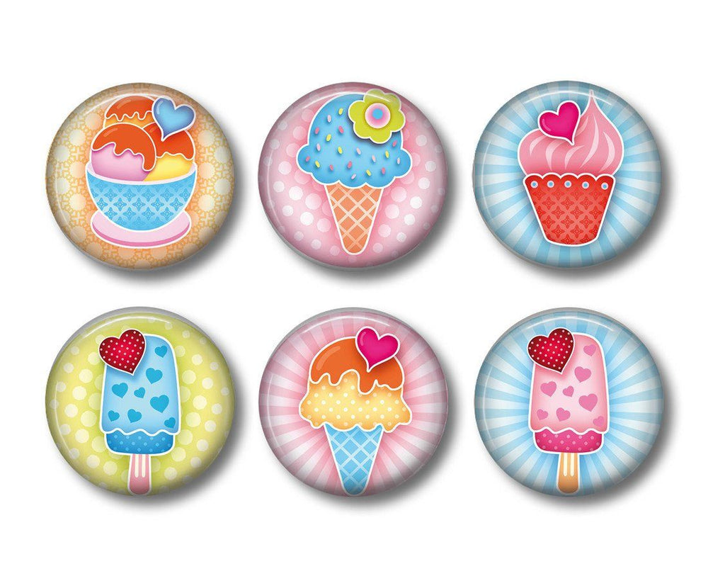 Icecream fridge magnets