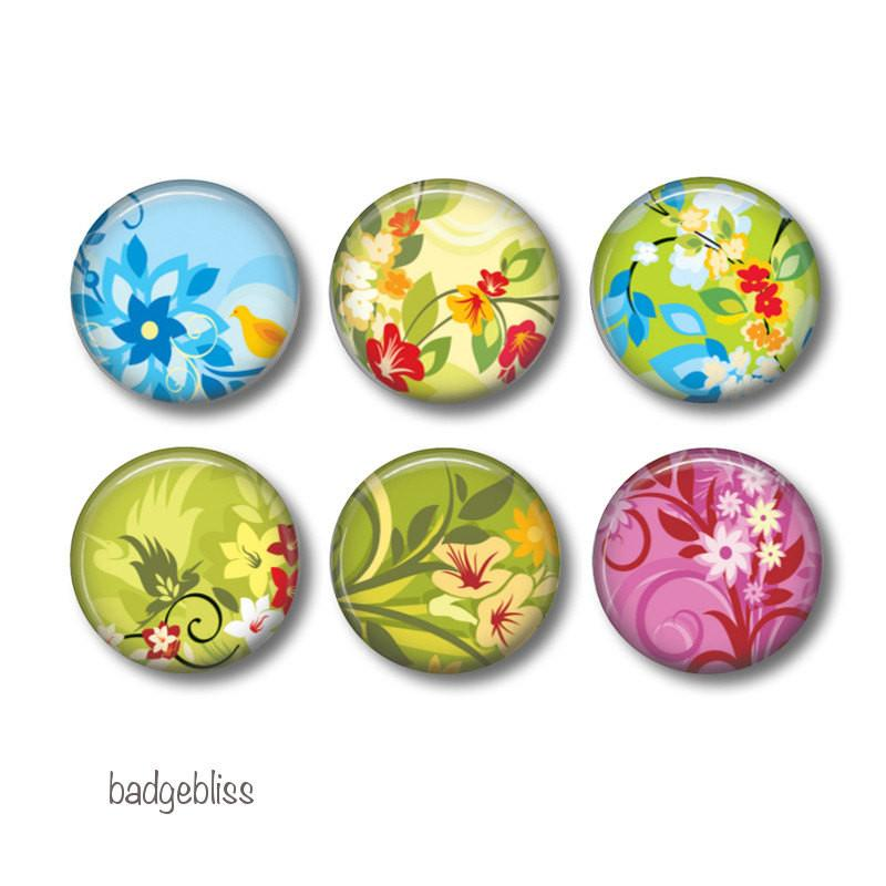 Tropical Floral fridge magnets