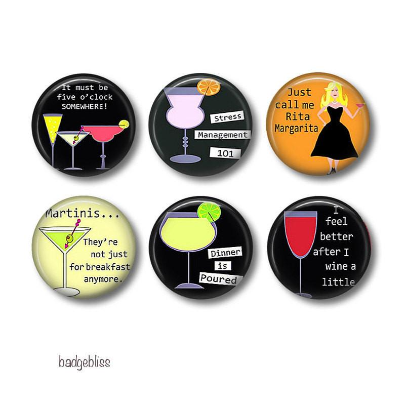 Rita Margarita badges, fridge magnets