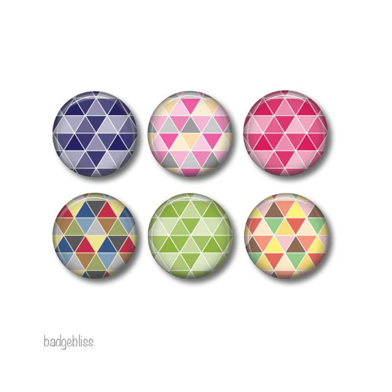 Geometric  fridge magnets