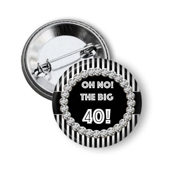 Custom made birthday pinback button badge - add your text - Badge Bliss