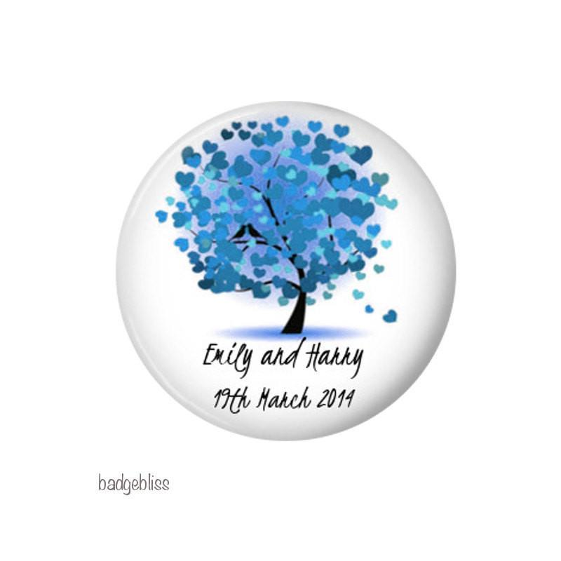 Wedding favour magnet Heart Tree