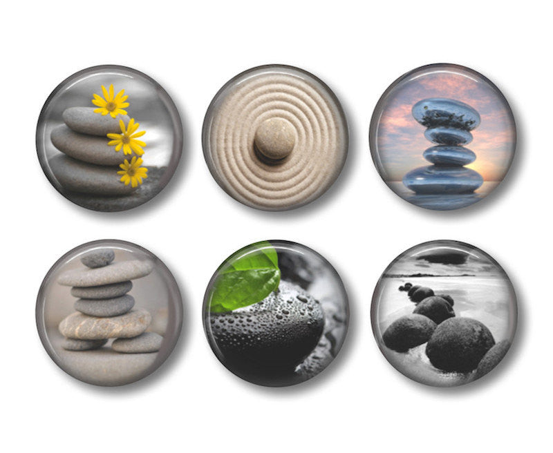 Zen badges or fridge magnets - Badge Bliss